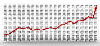 Growth charts #1 Royalty Free Stock Photos