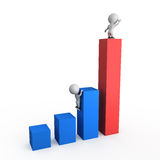 Growth charts 3D illustration Royalty Free Stock Photography