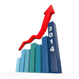 2014 Growth Charts. Isolated on white background. 3D render stock illustration