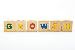 Growth childrens blocks Royalty Free Stock Images