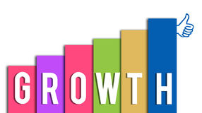 Growth Colourful with Thumb Up Stock Image