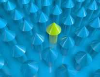 Growth concept with green and blue arrows Stock Photography