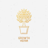 Growth concept and logo design element Stock Photos