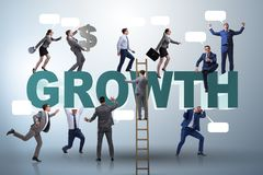 The growth concept with many businessmen. Growth concept with many businessmen royalty free stock photography
