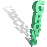 GROWTH concept shadow on copyspace background Royalty Free Stock Photography