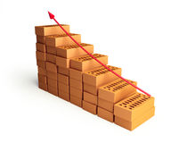 Growth in the construction industry. Growth in the building industry Stock Photos