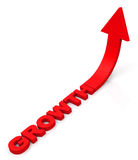 The growth. 3d generated picture of a growth concept vector illustration