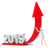 Growth 2015. 3d generated picture of a growth 2015 concept Royalty Free Stock Photo