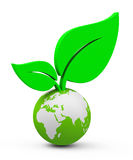 The growth. 3d generated picture of a global growth concept stock illustration