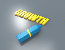 Growth 3d word concept Royalty Free Stock Photos