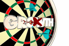 Growth Dart Board Increase Improve Target Word. 3d Illustration Stock Photography