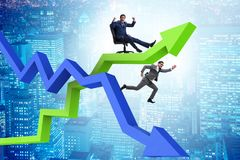The growth and decline concept with businessmen vector illustration