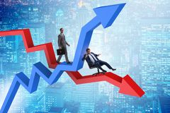 The growth and decline concept with businessmen stock illustration