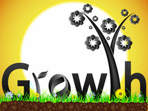 Growth design concept Stock Photo