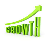 Growth diagram with arrow Royalty Free Stock Image