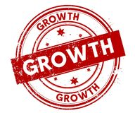 GROWTH distressed red stamp. Illustration graphic concept Stock Photos
