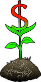 Growth_dollar_symbol. Raster graphic depicting the concept: FINANCIAL GROWTH (Dollar Royalty Free Stock Photography
