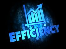 Growth Efficiency Concept on Digital Background. Royalty Free Stock Photos