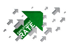 Growth of employment rate with arrow sign Stock Photography