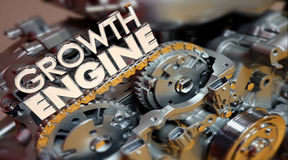 Growth Engine Increase More Results Improve Words Stock Photo