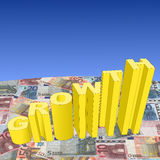 Growth with euros Royalty Free Stock Photos