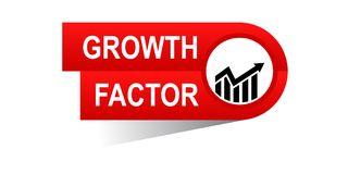 Growth factor banner. Commerce concept web banner icon on isolated white background - vector eps illustration Stock Images