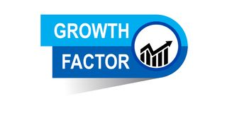 Growth factor banner. Commerce concept web banner icon on isolated white background - vector eps illustration Stock Photo