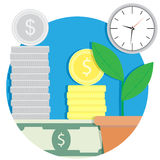 Growth finance capital icon. Result buisness finance, vector illustration Stock Photography