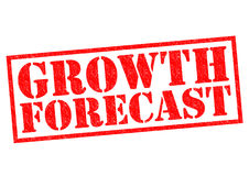 GROWTH FORECAST. Red Rubber Stamp over a white background Royalty Free Stock Image