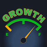 Growth Gauge Indicates Meter Scale And Indicator Stock Photos