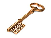 Growth - Golden Key. Royalty Free Stock Photo
