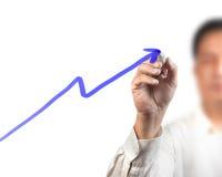 Growth graph Stock Photos