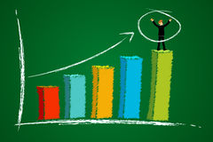 Growth graph with businessman Stock Photos