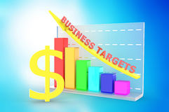 Growth graph with dollar sign. Computer generated Stock Photography