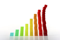 Growth graph Stock Photography