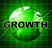 Growth Graph Means Financial Expansion And Forecast. Growth Graph Indicating Statistic Investment And Infograph Stock Photography