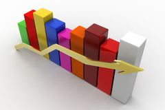 Growth graph Stock Images