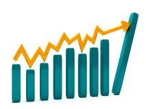 Growth graphic isolated Royalty Free Stock Photography