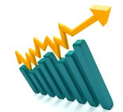 Growth graphic isolated Stock Image