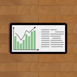 Growth graphic on tablet Royalty Free Stock Photos