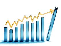 Growth graphs Stock Image