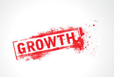 Growth grunge text Royalty Free Stock Photo