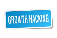 Growth hacking sticker. Growth hacking square sticker isolated on white background Royalty Free Stock Image