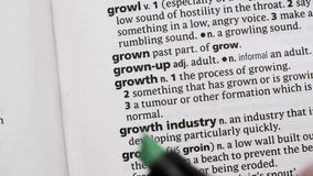 Growth highlighted in green Stock Images