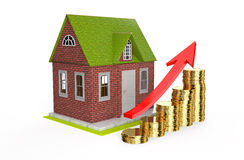 Growth house prices concept Royalty Free Stock Photography