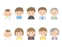 Growth1 humano stock de ilustración