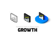 Growth icon in different style Royalty Free Stock Photography