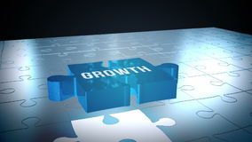 Growth jigsaw falling into place stock video