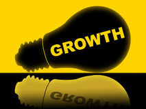Growth Lightbulb Shows Develop Improve And Lamp Stock Images