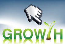 Growth Logo Royalty Free Stock Photo